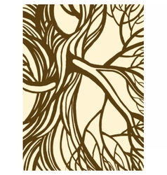 Stylized abstract vintage tree vector image
