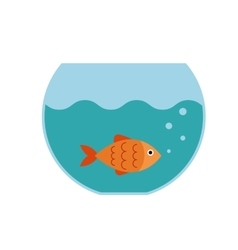 Aquarium fish flat icon vector image