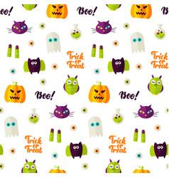 Boo halloween seamless pattern vector