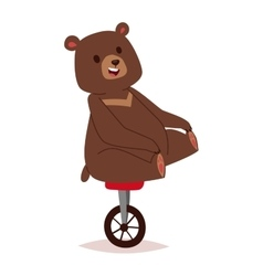 Cartoon bear haracter vector image vector image