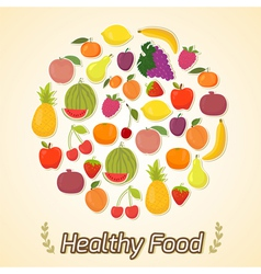 Circle from fruits healthy food vector image