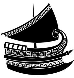 Greek ship vector image vector image