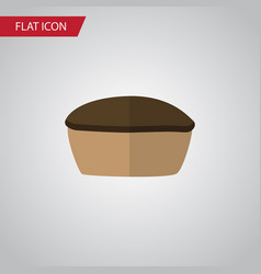 isolated pie flat icon tart element can be vector image