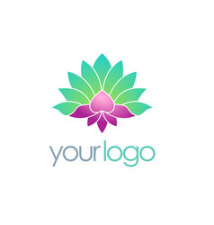 lotus flower spa color logo vector image