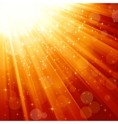 Magic stars descending on beams of light vector image vector image