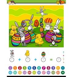 Maths activity for children vector
