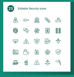 25 security icons vector