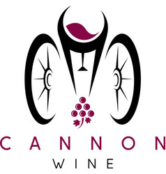 Abstract icon design template of wine bottles and vector