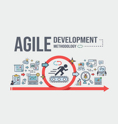 agile development methodology banner vector image