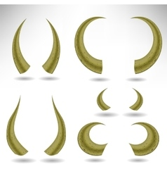 Animal Horns Isolated Bull vector