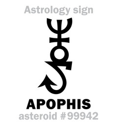 Astrology asteroid apophis vector
