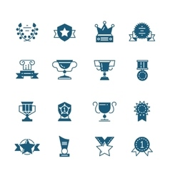Awards prizes and trophy black signs vector