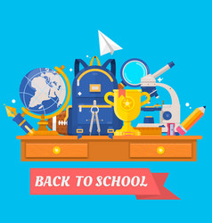back to school education in the school concept vector image