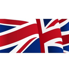 Background with waving great britain flag vector