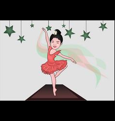 Ballet girl dancing vector