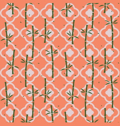 bamboo plant asian seamless pattern vector image