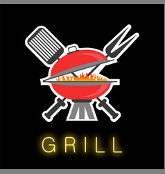 Barbeque colored icon vector