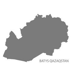 Batys qazaqstan kazakhstan map grey vector