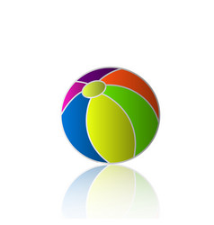 beach ball holiday icon vector image