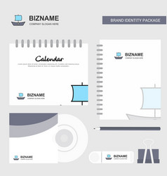 boat logo calendar template cd cover diary and vector image