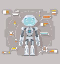 Boy teen robot android artificial intelligence vector
