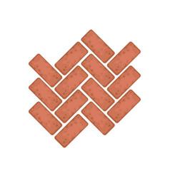 Brick stone path landscape design element vector