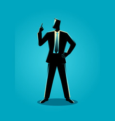 Businessman with a finger pointed up vector
