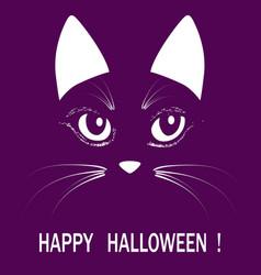 Cat head halloween animal illuatration vector