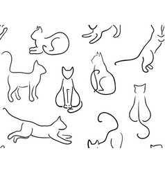 cats background vector image