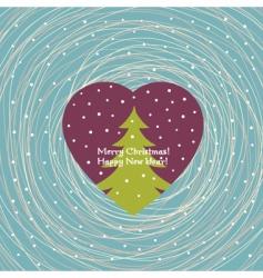 Christmas card vector