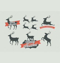Christmas deer signs vector