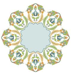 Circular floral background four vector