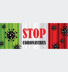 Corona virus in italy 2019-ncov coronavirus vector