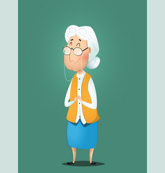 Cute cartoon grandmother vector
