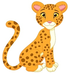 Cute cheetah cartoon vector