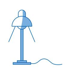 Desk lamp light bulb electric design vector