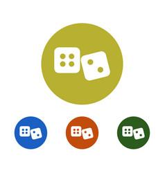 dice icon vector image