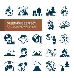 Different variants environmental icons on the vector