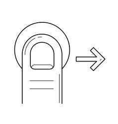 drag right line icon vector image