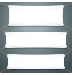 Empty White Banners vector