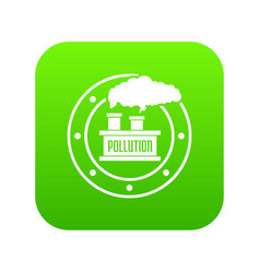 factory icon green vector image