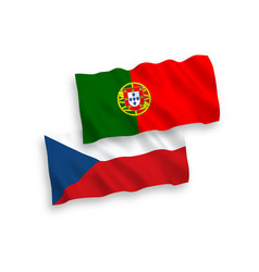 flags czech republic and portugal on a white vector image