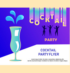 Flyer for night cocktail party vector