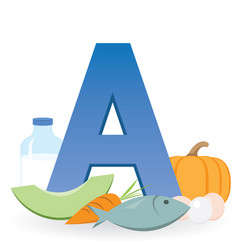 Foods rich in vitamin a vector