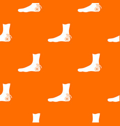 foot heel pattern seamless vector image
