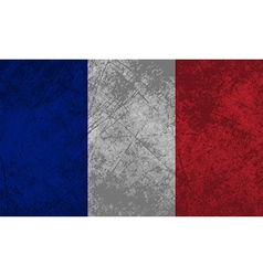 French Flag Grunge vector image