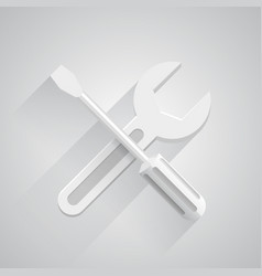 funny tools on white background vector image