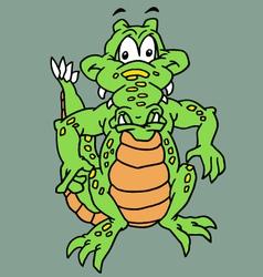 funy reptile vector image