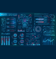 futuristic hud design elements infographic vector image