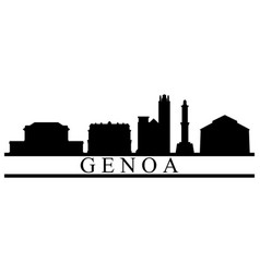 genoa skyline vector image